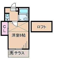 フラリッシュ鶴見[1階]の間取り