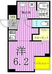 b´CASA三郷中央(ビーカーサミサトチュウオウ)[402号室]の間取り