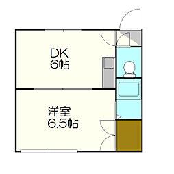 ヒルハイツ[2階]の間取り