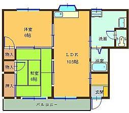 大江マンション[201号室]の間取り