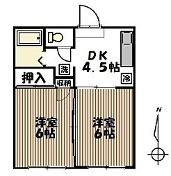 八木山動物公園駅 徒歩15分1階Fの間取り画像