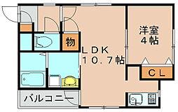 アトランテカーサ[3階]の間取り