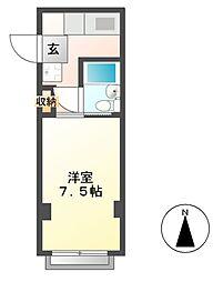コーポスズキ A棟[2階]の間取り