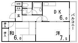 コーズハクシュン[1階]の間取り