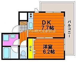ハアラン高柳[3階]の間取り
