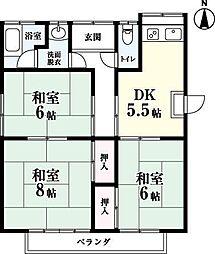 [一戸建] 佐賀県佐賀市新栄東2丁目 の賃貸【/】の間取り