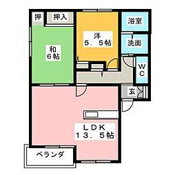 ヴェルドミールB棟[2階]の間取り