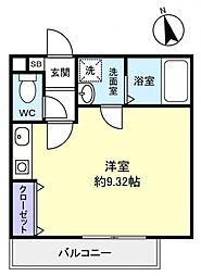 GRACE HILLS[1階]の間取り