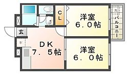 橋本ビルディング[2階]の間取り