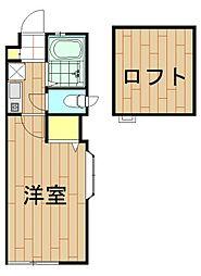 神奈川県川崎市幸区鹿島田2丁目の賃貸アパートの間取り
