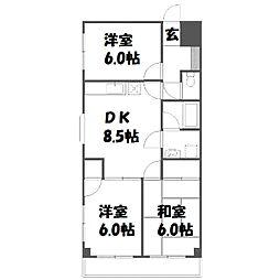 ルミエール東浅川[1階]の間取り