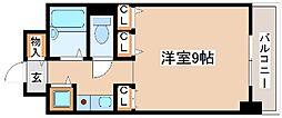 JR山陽本線 明石駅 バス7分 西河原下車 徒歩11分の賃貸マンション 8階ワンルームの間取り