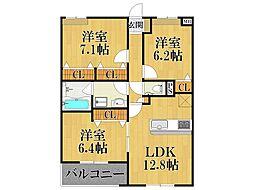 ノブレ甲子園口[4階]の間取り