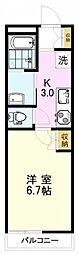 アーク吉祥寺 3階1Kの間取り