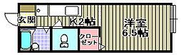 プレジール[B105号室]の間取り