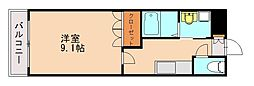 River Court YAHIROI(リバーコート ヤヒロ[1階]の間取り
