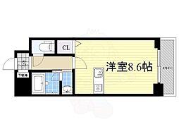 JR東海道本線 尾頭橋駅 徒歩9分の賃貸マンション 8階ワンルームの間取り