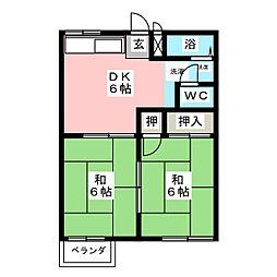 コーポ松浦[2階]の間取り