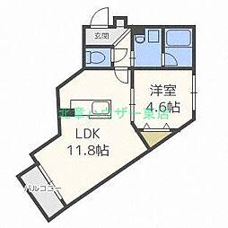 北海道札幌市東区北十三条東13丁目の賃貸マンションの間取り