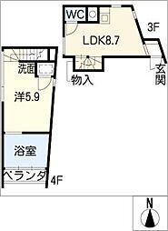 At Space[4階]の間取り