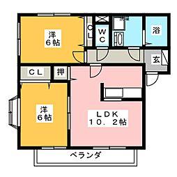 ドラールパーク[1階]の間取り