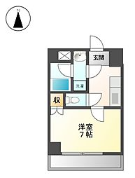 フラットK山木[1階]の間取り
