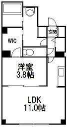 北海道札幌市中央区大通西24丁目の賃貸マンションの間取り