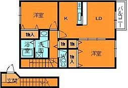 アビタシオン2[2階]の間取り