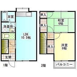 [テラスハウス] 神奈川県小田原市浜町2丁目 の賃貸【/】の間取り