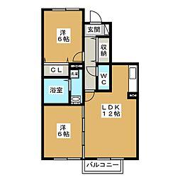 ヴェルデ藤塚[1階]の間取り