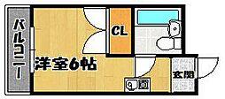 アミティ布施公園通り[3階]の間取り