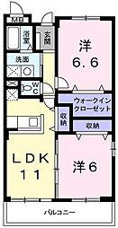 兵庫県姫路市上大野3丁目の賃貸マンションの間取り