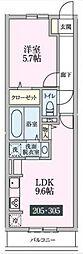 ルーチェ柴崎台[305号室号室]の間取り