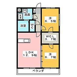 大島マンション6[3階]の間取り