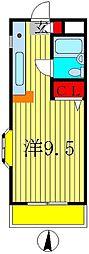 ハイツ松戸II[301号室]の間取り