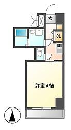 ビオラ名駅西[8階]の間取り