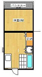 崎村ビル[201号室]の間取り
