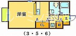 アルコバレーノ3[1階]の間取り