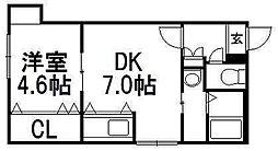 北海道札幌市西区発寒三条6丁目の賃貸マンションの間取り