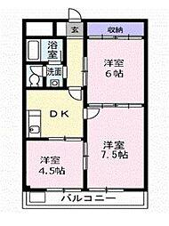 仁科ハイツA[2階]の間取り