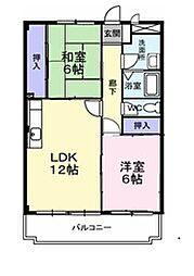 エスポアールパートI[1階]の間取り