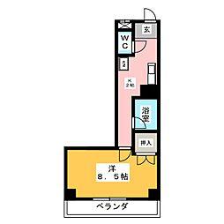 愛知県長久手市香桶の賃貸マンションの間取り