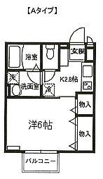 埼玉県さいたま市桜区町谷1丁目の賃貸アパートの間取り