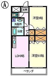静岡県富士宮市舞々木町の賃貸マンションの間取り