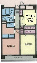 カールトンプラザ川崎[0503号室]の間取り