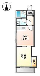 コ−ポ徳川[4階]の間取り