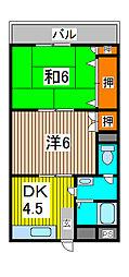プラザ三田[2階]の間取り