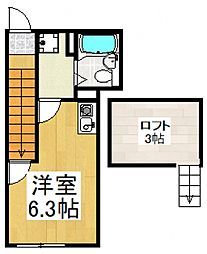 Lumio大森[2階]の間取り