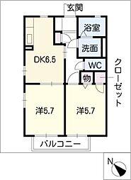オーキットコートC棟[1階]の間取り