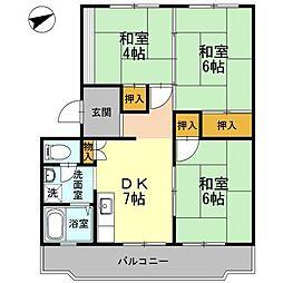 川口東マンション[3階]の間取り